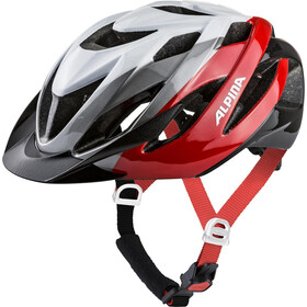 Alpina Lavarda Kask rowerowy, white-red-black